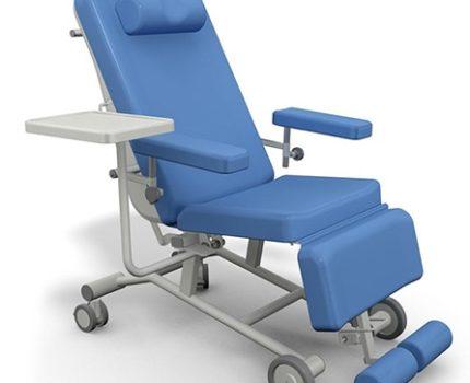 Fotel zabiegowy do pobierania krwi FoZa Basic Mobil