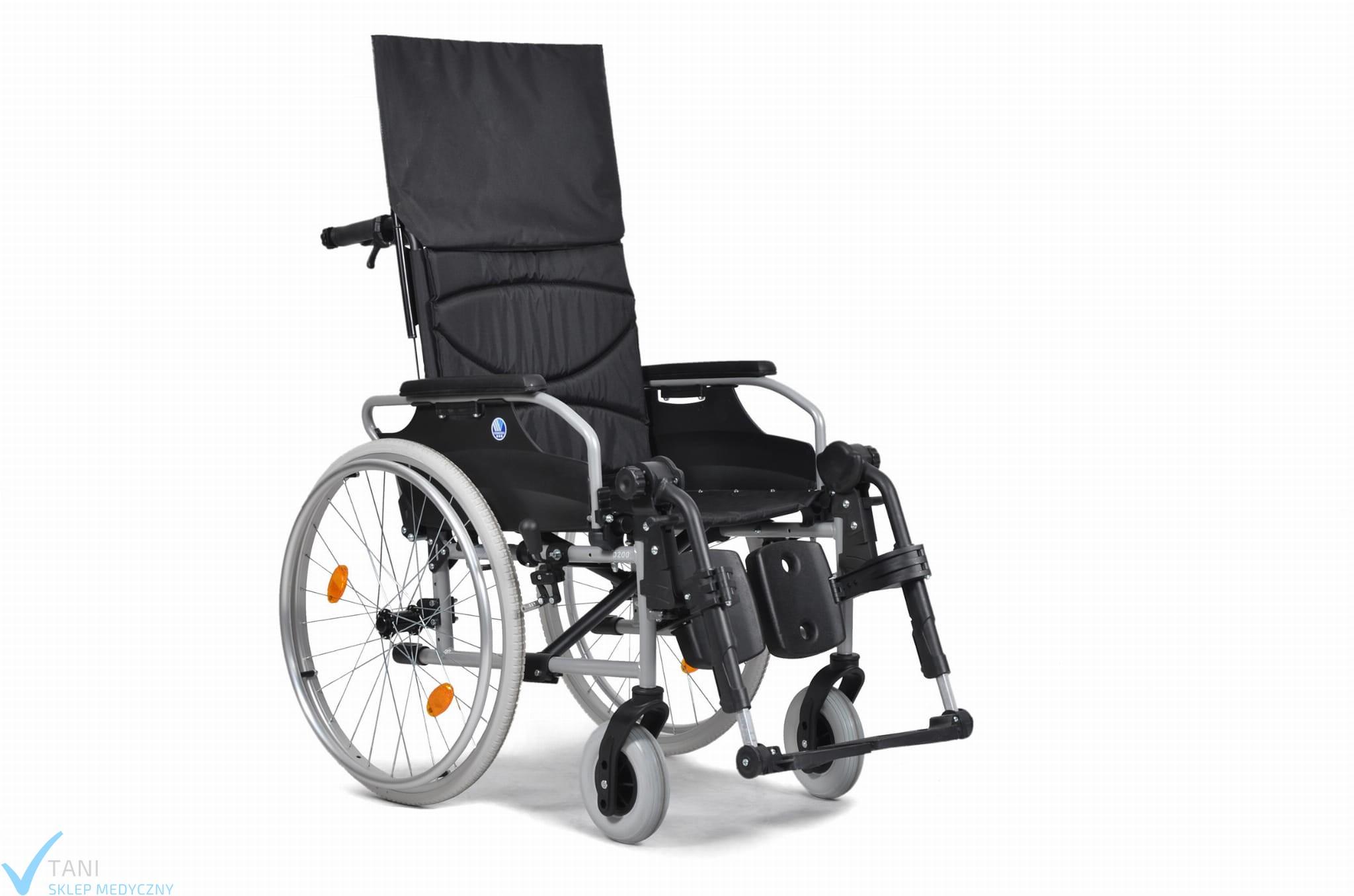 Wózek do przewozu w pozycji siedzącej-inwalidzki D200